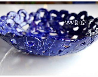 ceramiczna misa duża – ażurowa indygo