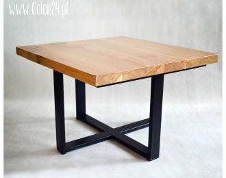 stolik kawowy z drewnianym blatem I