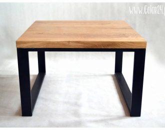 stolik kawowy z drewnianym blatem II
